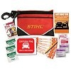 Auto emergency first aid kits with company logo