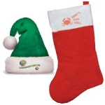 Custom Santa Hats and Christmas Stockings